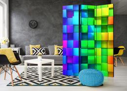 Paraván barevné kostky - 135x172 cm - Murando DeLuxe