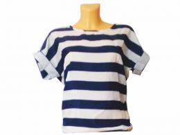 Dámské trièko - modrobílý proužek L