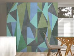 Šedé trojúhelníky - 50x1000 cm - Murando DeLuxe