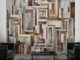 Labyrint z døevìných desek - 50x1000 cm - Murando DeLuxe