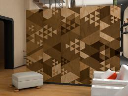 Hnìdý patchwork - 50x1000 cm - Murando DeLuxe