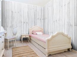 Bílé prkna - 50x1000 cm - Murando DeLuxe