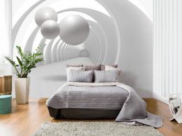 Samolepicí tapeta bílý tunel - 343x245 cm - Murando DeLuxe