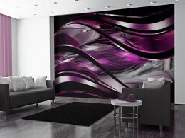 Samolepicí fialová abstraktní tapeta na zeï - 245x175 cm - Murando DeLuxe