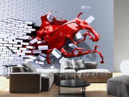 Samolepicí tapeta efektní cihlová zeï - 245x175 cm - Murando DeLuxe