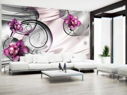 Murando DeLuxe Fialová orchidej a abstrakce Rozmìry (š x v) a Typ  450x315 cm - vliesové