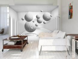 Murando DeLuxe 3D tapeta Bílé objekty