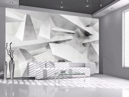 Murando DeLuxe 3D abstraktní tapeta šedá