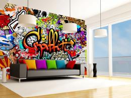 Murando DeLuxe Tapeta barevné graffiti