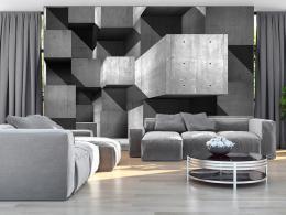 Murando DeLuxe Tapeta betonové kvádry Rozmìry (š x v) a Typ  350x245 cm - vliesové