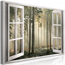 Obraz okno tichý les - 90x60 cm - Bimago