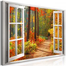Obraz okno do sluneèného podzimu - 60x40 cm - Murando DeLuxe