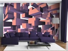Murando DeLuxe 3D tapeta - Konstrukce fialová