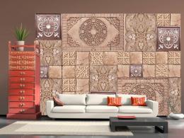 Murando DeLuxe Tapeta perníková mozaika