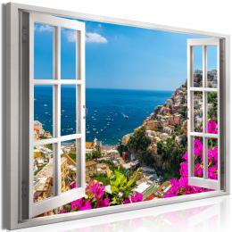 Obraz okno na Kampanii - 90x60 cm - Murando DeLuxe