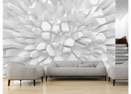 Murando DeLuxe 3D Tapeta Rostoucí bílé krystaly