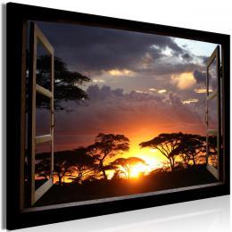 Obraz okno do Serengeti - 90x60 cm - Murando DeLuxe