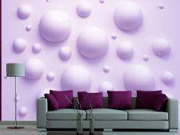 Murando DeLuxe Fialové bubliny Rozmìry (š x v) a Typ  300x210 cm - vliesové