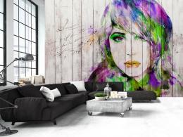 Murando DeLuxe Tapeta akvarelový portrét