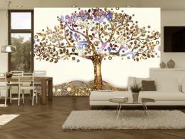 Murando DeLuxe Tapeta zlatý strom