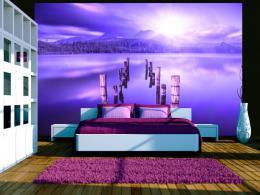 Murando DeLuxe Tapeta fialové jezero