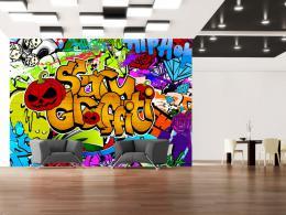 Murando DeLuxe Fototapeta Scary graffiti