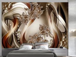 Samolepicí tapeta bronzová symfonie - 245x175 cm - Murando DeLuxe