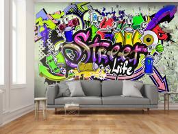 Murando DeLuxe Tapeta graffiti koláž