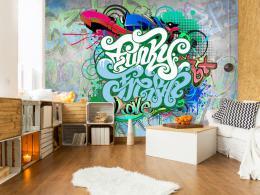 Murando DeLuxe Fototapeta Graffiti v mátové
