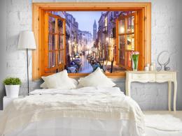Murando DeLuxe Tapeta okno do Benátek
