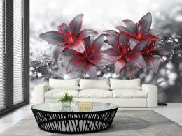 Murando DeLuxe Tapeta støíbrná lilie  - zvìtšit obrázek