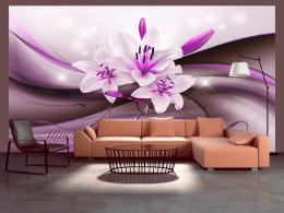 Murando DeLuxe Fialová elegantní lilie Rozmìry (š x v) a Typ  392x280 cm - samolepící