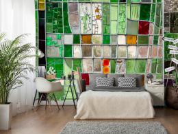Murando DeLuxe Tapeta zelená mozaika