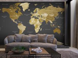 Murando DeLuxe Tapeta mapa svìta  moderní geografie
