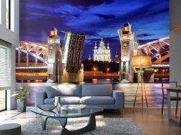 Murando DeLuxe Tapeta Most sv. Petra v Petrohradu  - zvìtšit obrázek