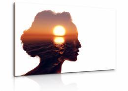 Malvis Obraz Portrét se sluncem