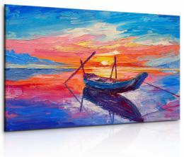 InSmile ® Obraz malebná loï v západu slunce