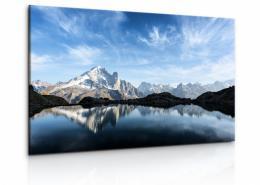 Malvis Obraz panorama Alp s jezerem