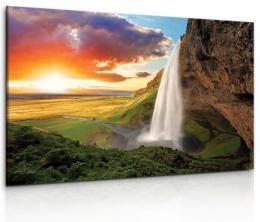 Malvis Obraz vodopád na Islandu