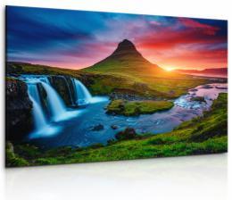 Malvis Obraz vodopád na Islandu II