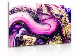 InSmile ® Obraz fialovozlatá abstrakce