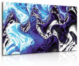 Malvis Obraz modrobílá abstrakce