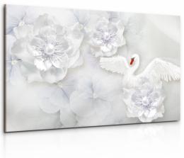 InSmile ® Obraz Labutí kvìtinový ráj