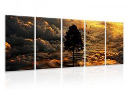 InSmile ® Vícedílný obraz - Voda a vzduch Velikost (šíøka x výška)  120x30 cm
