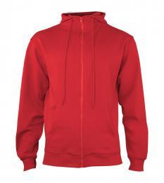404 Mikina pánská Hooded Fiery Red|S