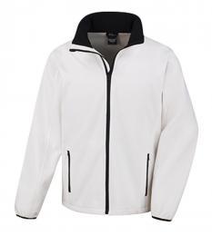 409 Pánská bunda Softshell Nebrask White|M