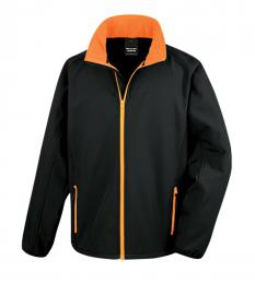 409 Pánská bunda Softshell Nebrask Black/Orange|S