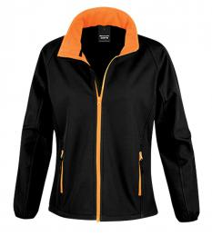 410 Dámská Softshell Nebraska Black/Orange|L