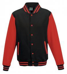 411 Bunda Basseball Jet Black/Fire Red|L