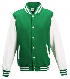 411 Bunda Basseball Kelly Green/White|XL